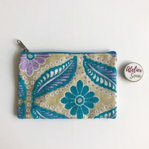 Handmade Floral Moroccan Pouch - Small